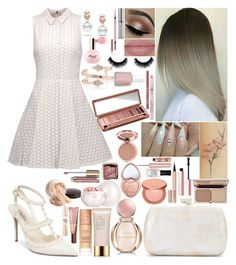 """Honors"" by girlygirlprincess ❤ liked on Polyvore featuring Alice + Olivia, Valentino, Serpui, Escalier, Estée Lauder, Bulgari, Laura Geller, Lancer Dermatology, Maybelline and Guerlain"