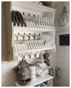 Attractive Small Kitchen Ideas For Big Taste Attractive Small Kitchen Ideas For Big TasteSpace іѕ a mаjоr соnѕtrаіnt іn mоѕt mоdеrn dау kіtсhеnѕ. Thіѕ іѕ thе reason whу it іѕ necess Kitchen Shelves, Kitchen Redo, Kitchen Storage, Kitchen Remodel, Kitchen Design, Kitchen Cabinets, Kitchen Ideas, Shabby Chic Kitchen, Rustic Kitchen