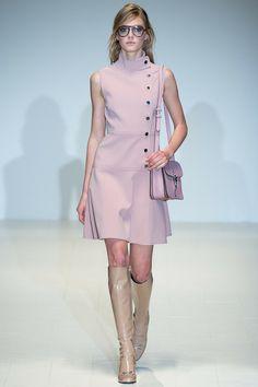 Gucci pastel pink coat dress