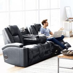'Matrix' Power-Recline Sofa With Built-In Speaker And Device Connectivity - Sears Canada Shopping, Diy Projects To Try, Online Furniture, Recliner, Mattress, Lounge, Sofa, Basement, Bedroom