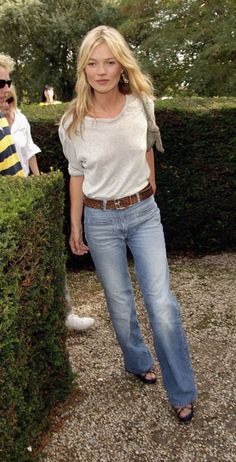 Kate Moss, in the now-iconic look that launched a new era of denim.