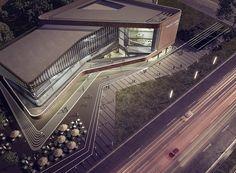 Medical Center on Behance - Architektur Cultural Architecture, Green Architecture, Amazing Architecture, Architecture Design, Healthcare Architecture, Mix Use Building, Building Design, Adobe Portfolio, Architecture Concept Drawings