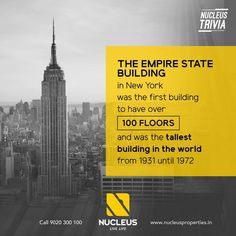Did You Know?  The Empire State Building in New York was the first building to have over 100 floors and was the tallest building in the world from 1931 until 1972.   #Trivia #Kerala #Kochi #India #NewYork #Architecture #Home #Construction #City #Elegance #Environment #Elegant #Building #Beauty #Beautiful #Exquisite #Interior #Design #Comfort #Luxury #Life #Gorgeous #Style #LifeStyle #RealEstate #Nature #View #Atmosphere #Apartment #Villa