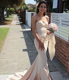 On Sale Vogue Ivory Prom Dresses, Mermaid Sweetheart Sweep Train Ivory Elastic Satin Prom Dress Sexy Dresses, Mermaid Bridesmaid Dresses, Satin Bridesmaid Dresses, Prom Dresses 2018, Beautiful Prom Dresses, Pageant Dresses, Mermaid Dresses, Dress Prom, Party Dresses