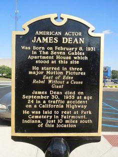 James Dean birth site Marion Indiana