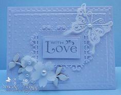 Susan Flynn: Craftin' Suzie: White on White - 7/13/14. (Pin#1: Valentines (Hearts/ Love). Pin+: Anniversary/ Wedding.