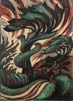 No Brash Festivity, Sybil Andrews, Storm, 1935 Linocut 33 x 23 cm . Linocut Prints, Art Prints, Block Prints, Sybil Andrews, Illustrations, Illustration Art, Canadian Artists, Wood Engraving, Painting & Drawing