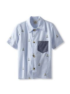 48% OFF water+son Boy's Woven Shirt with Contrast Pocket