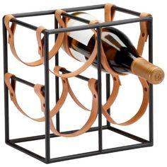 Cyan Design Small Brighton Wine Holder in Raw Steel