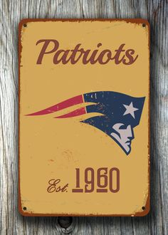 Vintage style NEW ENGLAND Patriots Sign, New England Patriots Est. 1960 Composite Aluminum New England Patriots Sign WORLDWIDE Shipping by FanZoneSigns on Etsy