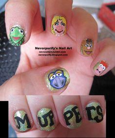 20 cool geek fingernails art
