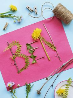 Simple Craft Projects for Kids, DIY and Crafts, Simple Crafts Go Green Personalized Nameplate From Parents Magazine. Craft Projects For Kids, Easy Crafts For Kids, Toddler Crafts, Fun Crafts, Diy And Crafts, Easy Projects, Creative Crafts, Beach Crafts, Kids Diy