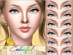 Pralinesims' Colorful Eyeliner
