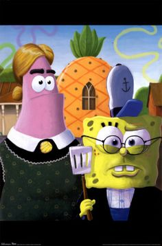 Sponge Bob American Gothic. ❣Julianne McPeters❣ no pin limits