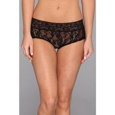 DKNY Intimates Signature Lace Boyshort Women's Underwear ($12) ❤ liked on Polyvore featuring intimates, panties, lace boyshorts, lace panties, boy shorts panties, floral panties and panties boyshorts