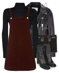 """""""Untitled #1980"""" by charmandurp ❤ liked on Polyvore featuring Acne Studios, Yves Saint Laurent, WearAll and Topshop"""