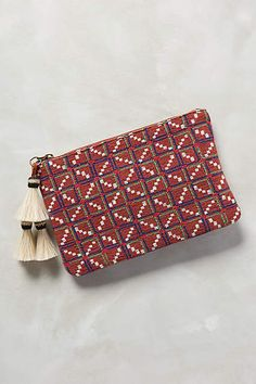 Penelope Chilvers Tassel Grid Clutch - anthropologie.com #anthrofave #anthropologie