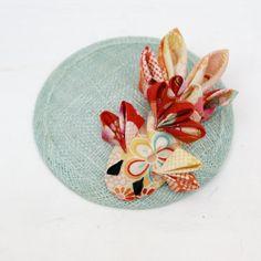 Aqua & Red Fish Fascinator  Mermaid Headpiece  by cuttlefishlove