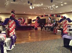 Masquerade Theme Sweet 16 ( double arch)