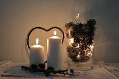 Candles, Decor, Details, Winter, Lights