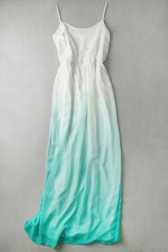 Ombre Color Cami Maxi Dress