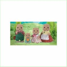 Sylvanian Families Toys Beaver Family SF5060  From Green Ant Toys Online Toy Store www.greenanttoys.com.au