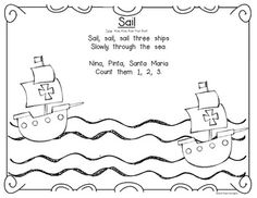 Columbus Day interactive storyboard for Kindergarten and First Grade. $