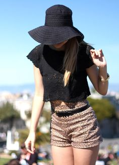 Lace, cropped, leopard print {Late Afternoon}