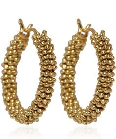 Annoushka Gold Alchemy Hoop Earrings available at Liberty.co.uk