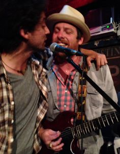 Sam Cash (l.) w/one of my personal musical heroes. Matt sat with Sam's band for an impromptu session last night.