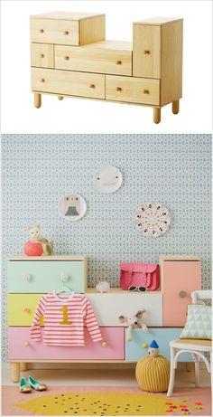 Ideas kids room furniture diy ikea hacks for 2019 Ikea Bedroom Furniture, Ikea Furniture Hacks, Kids Room Furniture, Furniture Design, Ikea Hacks, Furniture Buyers, Hacks Diy, Furniture Stores, Cheap Furniture