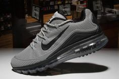 low priced 5cfe1 7bdce Nike Air Max 2018 Grey Black Men shoes design for runners,it s features  high-end technology combines with streamlined to deliver maximum comfort  and ...