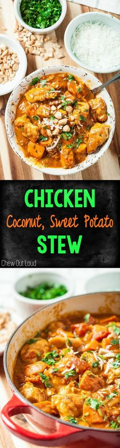 Comforting, Healthy-Delicious Stew that happens to be Whole30, Paleo, and Clean eating. So, so good. #whole30 #paleo #clean #stew #sweetpotato #chicken