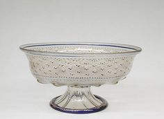 Bowl, Italy (Venice/Murano), early 16th century, Glass, enamelled and gilt, H. 5 7/8 in. (14.9 cm); Diam. 11 1/4 in. (28.6 cm.)