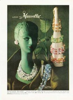 Marvella Stained Glass Iridescent Necklace (1959)