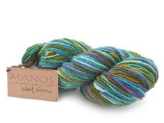 Manos del Uruguay Classica Yarn (Mermaid).  I love knitting hats with this.