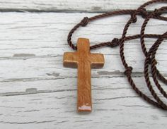 Handmade Wooden Cross Necklace  Californian Eucalyptus by TheLotusShop, $16.95