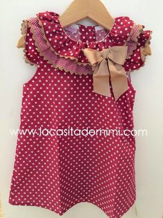 La casita de Mimi Little Dresses, Little Girl Dresses, Girls Dresses, Sewing For Kids, Baby Sewing, Jupe Short, Frock Design, Kind Mode, Baby Dress