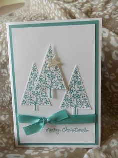 Lost lagoon Christmas trees by stamping chick - Cards and Paper Crafts at Splitcoaststampers