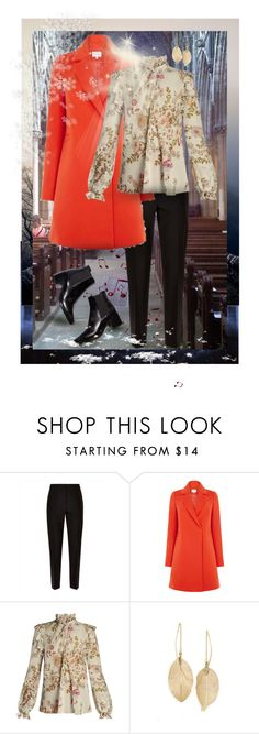 """""""Advent Concert Outfit"""" by giovanina-001 ❤ liked on Polyvore featuring Doncaster, Music Notes, Jaeger, Warehouse, Giambattista Valli and LULUS"""