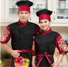 New Design Unisex Chef Jackets women men Chinese restaurant uniforms hotel staff new design short sleeve hotel uniform