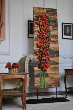 E-mail - jenny stam - Outlook Deco Floral, Arte Floral, Floral Wall, Floral Design, Ikebana, Flower Show, Flower Art, Unique Flower Arrangements, Flower Crafts