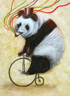 Panda Journey Art Print