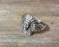 Sterling Silver Native American Chief Ring made at Renaissance Jewelers $40.00