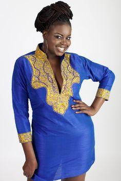 SALE AJAH royal blue Kaftan African Dress by AFRICANISEDSHOP on Etsy https://www.etsy.com/listing/212247550/sale-ajah-royal-blue-kaftan-african