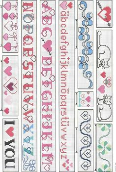 I Love U braclets I think, or book marks, I can put them on either I just like the designs and use them some how.