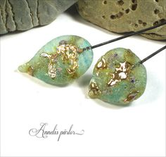 Handmade lampwork glass headpins large lampwork by Annelibeads