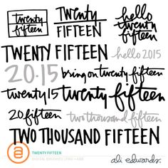 Twenty Fifteen at Ali Edwards