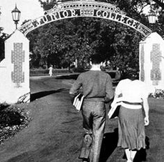 entrance to Santa Rosa Junior College, Santa Rosa, California; founded in 1918; image source: https://srjc100.santarosa.edu/