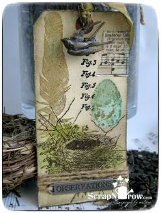 #papercraft #tags  Tim Holtz Tags of 2014: Bird Feather Tag